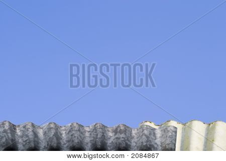 Tin Roof Against Blue Sky