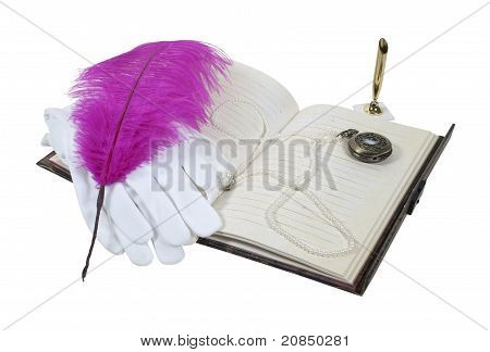 Book Pen Gloves And Watch