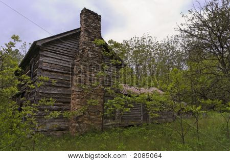 Old House With Chimney