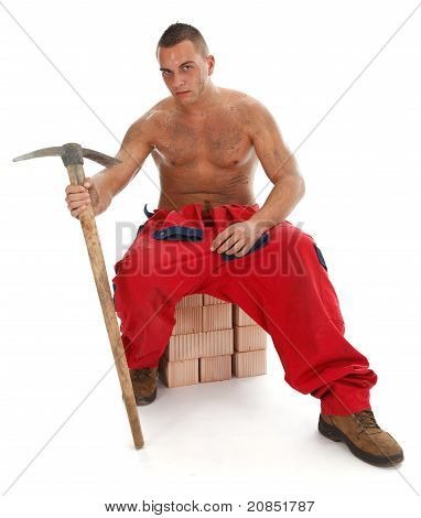 Worker With Pickax