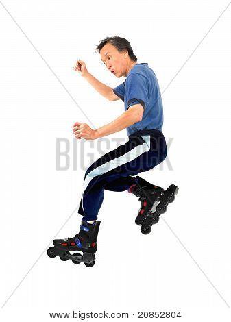 roller blading skater man