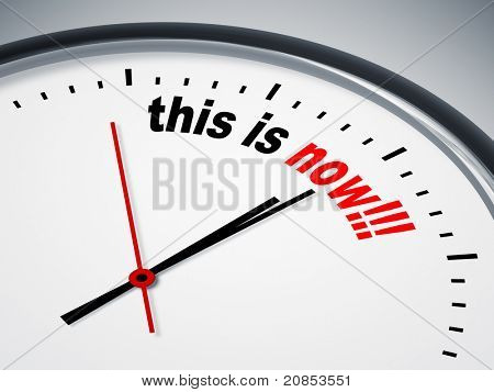 An image of a nice clock with this is now