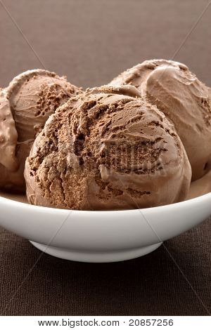 Delicious Gourmet Chocolate Ice Cream,