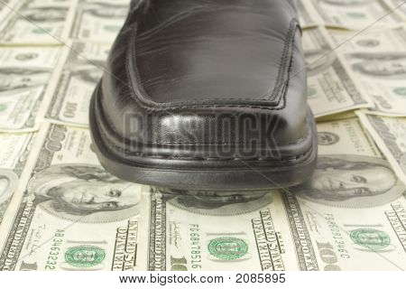 Shoe On Dollar Floor