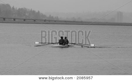 Rowing On A Rainy Day
