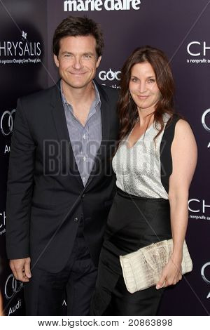 LOS ANGELES - JUN 11:  Jason Bateman, Amanda Anka arrive at the 10th Chrysalis Butterfly Ball at Private Home on June 11, 2011 in Brentwood, CA