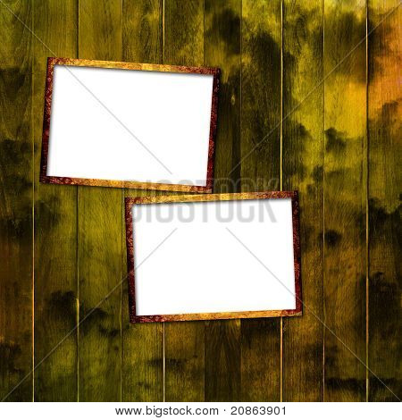Old Grunge Frames On The Ancient Paper Background