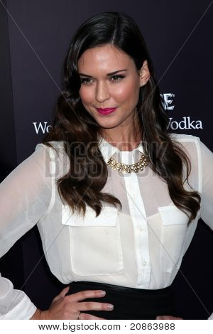 LOS ANGELES - JUN 11:  Odette Yustman Annable arrives at the 10th Chrysalis Butterfly Ball at Private Home on June 11, 2011 in Brentwood, CA