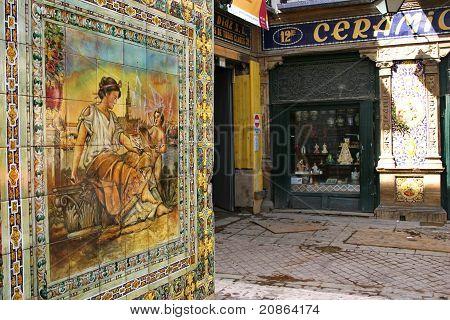 Porcelain In Seville Streets