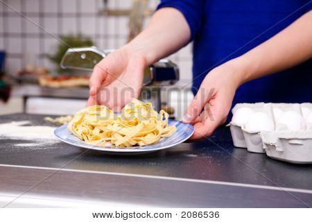 Plate Of Fresh Pasta
