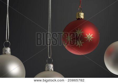Four christmas ball hanging