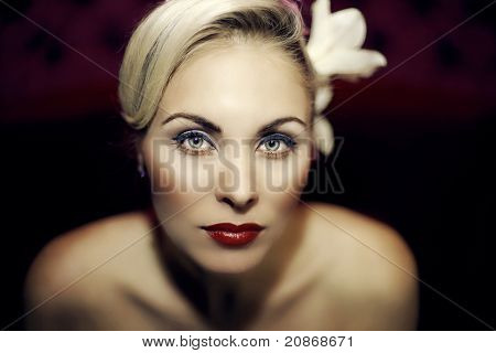 Beautiful Girl With A Wedding Makeup