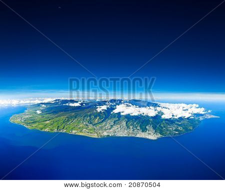 Reunion Island sight of the sky