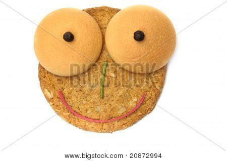 Green Nosed Smiling Cookie Face