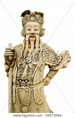 Ascetic Statue On White Background