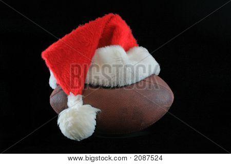 Football With Santa Hat
