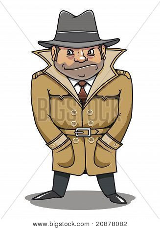Detective Agent Or Spy Man