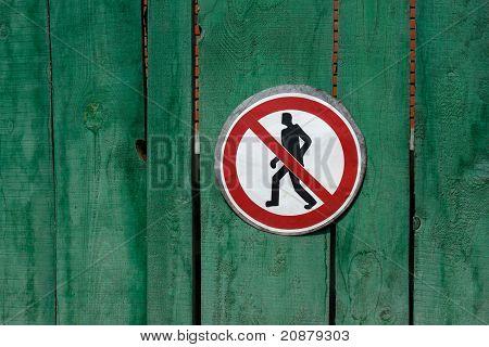 Passage Prohibited. Sign