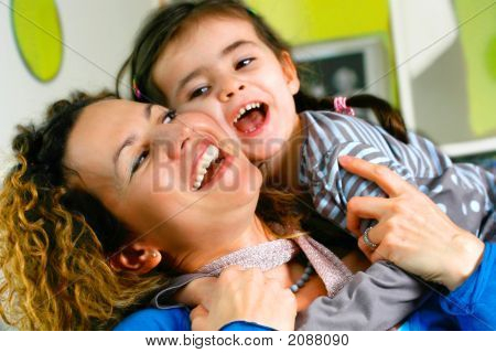 Playing Fun And Laughter Games With Mommy