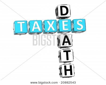 3D Death Taxes Crossword
