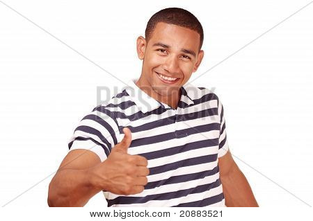 Thumbs up - smiling confident man