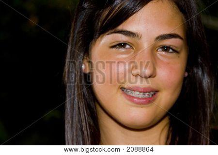 Beautiful Woman Looking At The Camara