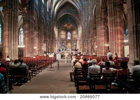 Church Service In Notre-dame Cathedral