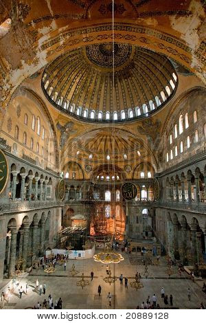 Interior Of Aya Sophia - Ancient  Byzantine Basilica
