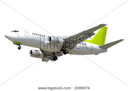 Airliner On White Background
