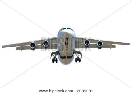 Jet Plane On White Background