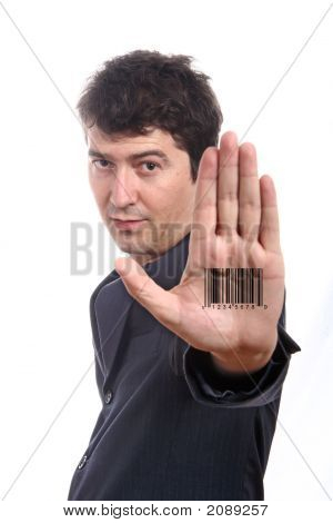 Bar Code Printed On Hand