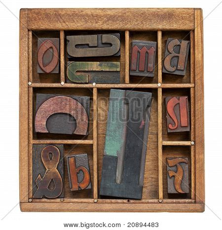 Vintage Letterpress Printing Blocks