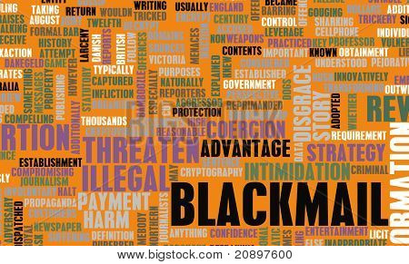 Blackmail Crime as a Danger Concept Word Cloud