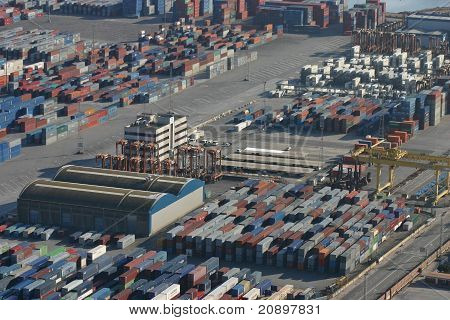 Paronamic View Of Containers
