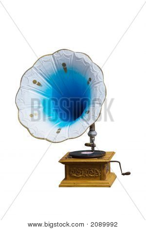 Retro Gramophone With Disc