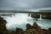 Beautifull Godafoss Waterfall In Iceland poster