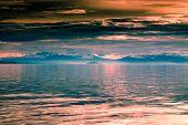 Beautiful Sunset And Mountains