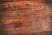 Grunge Background Of Old Red Wooden Plank. poster