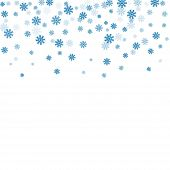 Snowflake Background Blue poster