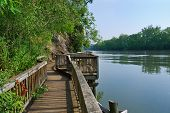stock photo of knoxville tennessee  - Boardwalk at Ijams Nature Center Knoxville Tennessee USA - JPG