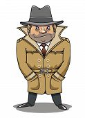 picture of private detective  - Detective agent or spy man for security or police concept design - JPG