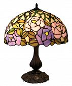 stock photo of lamp shade  - An antique table lamp with clipping path - JPG
