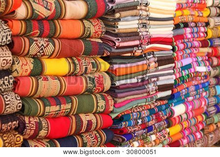 Bolivian (Andes region) traditional fabrics
