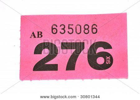 single Purple Raffle Ticket
