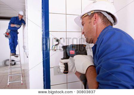tradesman drilling