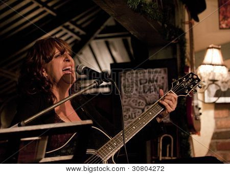 Byram, Nj  -  Jan 26: Vocalist Lisa Lowell Performs At Salt Gastropub On January 26, 2012 In Byram,
