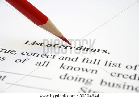 Creditor List