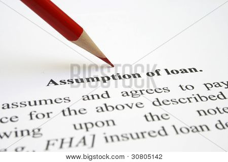 Assumption Of Loan