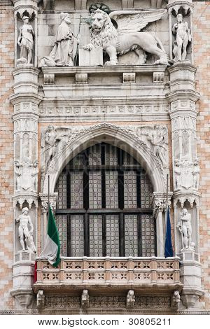 Doges Palace Window In Venice