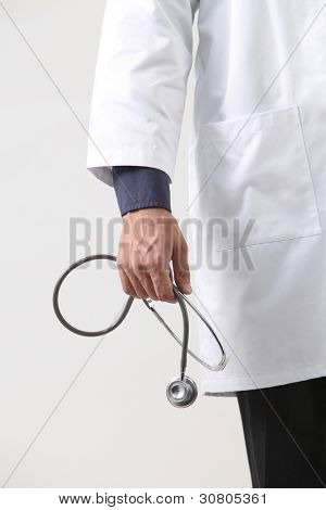 close up of the doctor portrait holding stethscope
